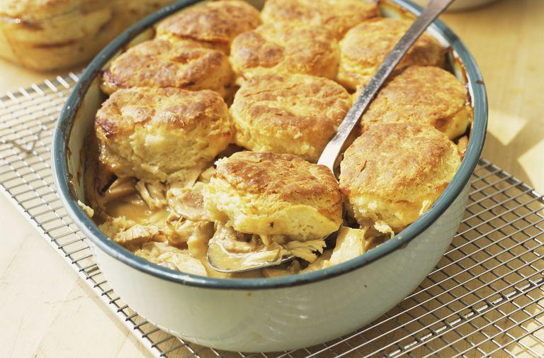 pastís de pollastre baixa en carbohidrats