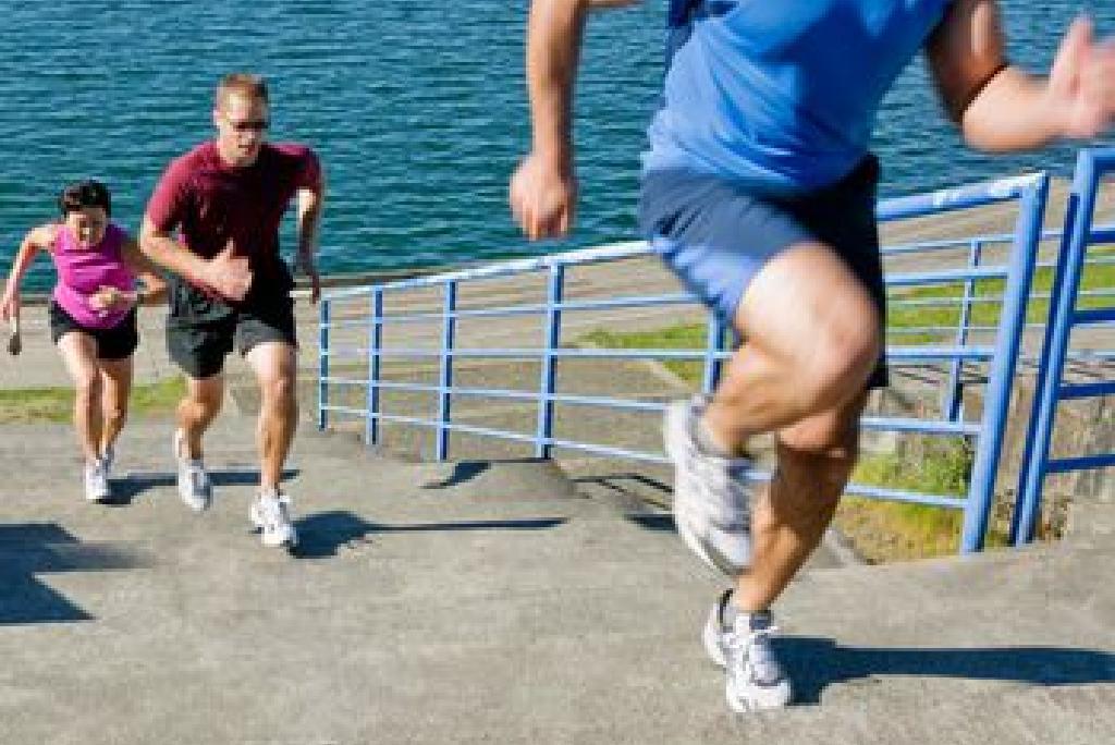 Scări de alergări pentru a construi viteza și puterea